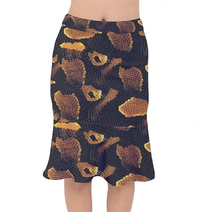 Gold Snake Skin Mermaid Skirt