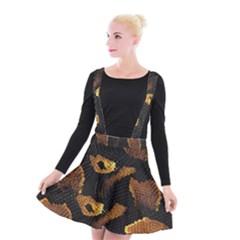 Gold Snake Skin Suspender Skater Skirt