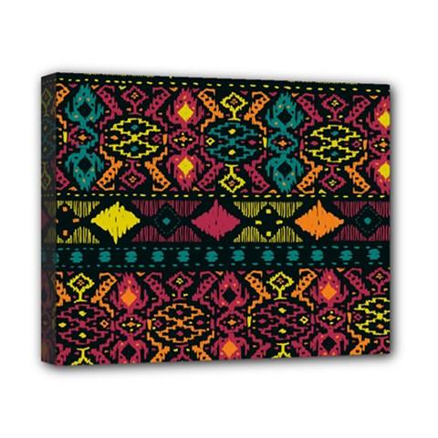 Bohemian Patterns Tribal Canvas 10  x 8