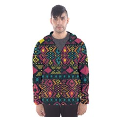 Bohemian Patterns Tribal Hooded Wind Breaker (men)
