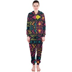 Bohemian Patterns Tribal Hooded Jumpsuit (Ladies)
