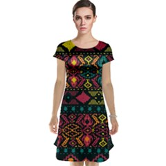 Bohemian Patterns Tribal Cap Sleeve Nightdress