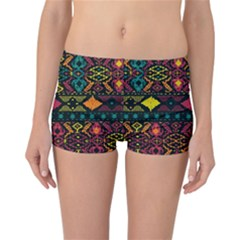 Bohemian Patterns Tribal Reversible Boyleg Bikini Bottoms