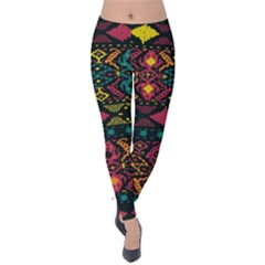 Bohemian Patterns Tribal Velvet Leggings