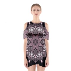 Ornate mandala Shoulder Cutout One Piece
