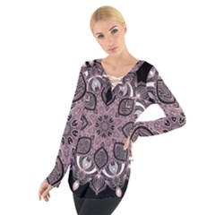 Ornate mandala Women s Tie Up Tee