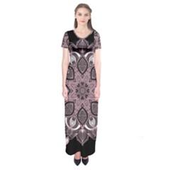 Ornate mandala Short Sleeve Maxi Dress