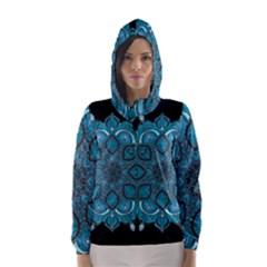 Ornate mandala Hooded Wind Breaker (Women)