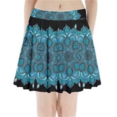 Ornate mandala Pleated Mini Skirt