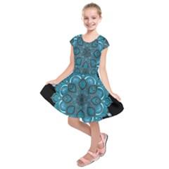 Ornate mandala Kids  Short Sleeve Dress