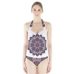Ornate mandala Halter Swimsuit