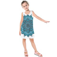 Ornate mandala Kids  Sleeveless Dress