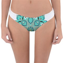 Ornate Mandala Reversible Hipster Bikini Bottoms