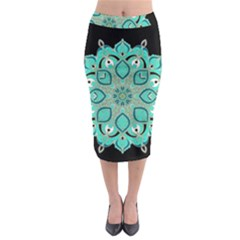 Ornate mandala Midi Pencil Skirt