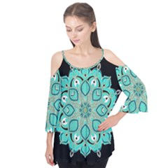 Ornate mandala Flutter Tees