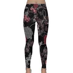 Sakura Rose Classic Yoga Leggings