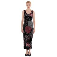 Sakura Rose Fitted Maxi Dress