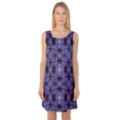 Lavender Moroccan Tilework  Sleeveless Satin Nightdress