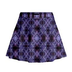 Lavender Moroccan Tilework  Mini Flare Skirt