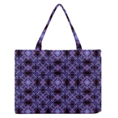 Lavender Moroccan Tilework  Medium Zipper Tote Bag