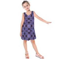 Lavender Moroccan Tilework  Kids  Sleeveless Dress