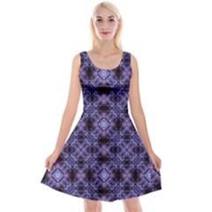 Lavender Moroccan Tilework  Reversible Velvet Sleeveless Dress