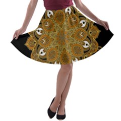 Ornate mandala A-line Skater Skirt