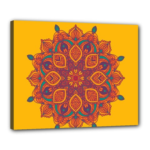 Ornate mandala Canvas 20  x 16