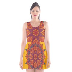 Ornate mandala Scoop Neck Skater Dress
