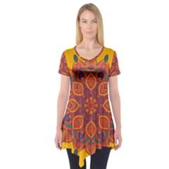 Ornate mandala Short Sleeve Tunic