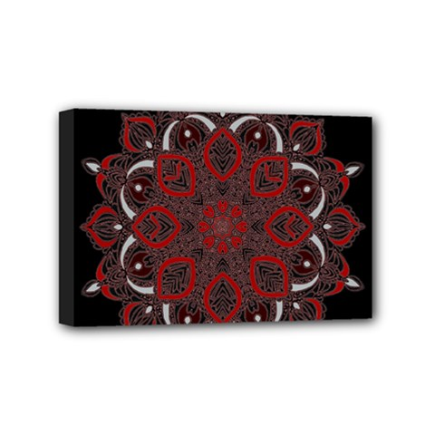 Ornate mandala Mini Canvas 6  x 4