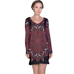 Ornate mandala Long Sleeve Nightdress