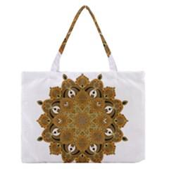 Ornate Mandala Medium Zipper Tote Bag