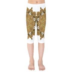 Ornate Mandala Kids  Capri Leggings