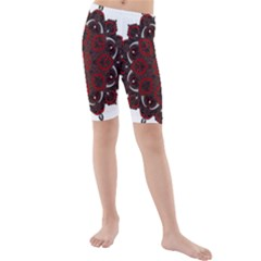 Ornate mandala Kids  Mid Length Swim Shorts