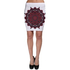 Ornate mandala Bodycon Skirt