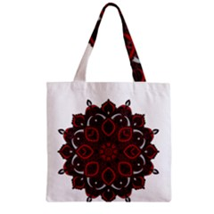 Ornate mandala Zipper Grocery Tote Bag