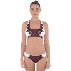 Ornate Mandala Cross Back Hipster Bikini Set