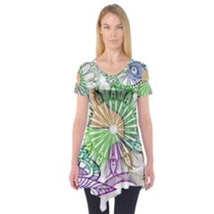 Zentangle Mix 1116c Short Sleeve Tunic
