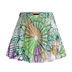 Zentangle Mix 1116c Mini Flare Skirt