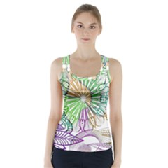 Zentangle Mix 1116c Racer Back Sports Top
