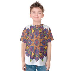 Ornate mandala Kids  Cotton Tee