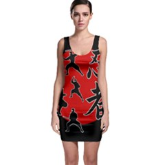 Ninja Sleeveless Bodycon Dress
