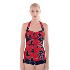 Ninja Boyleg Halter Swimsuit