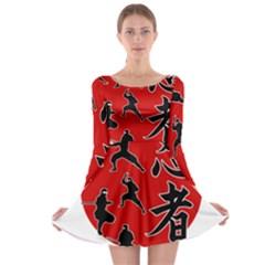 Ninja Long Sleeve Skater Dress