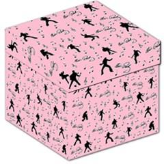 Elvis Presley  pink pattern Storage Stool 12