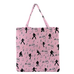 Elvis Presley  pink pattern Grocery Tote Bag