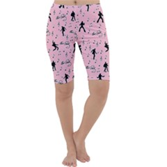 Elvis Presley  pink pattern Cropped Leggings