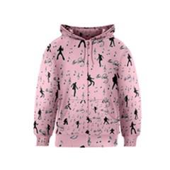 Elvis Presley  pink pattern Kids  Zipper Hoodie