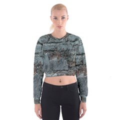 Concrete wall                          Women s Cropped Sweatshirt